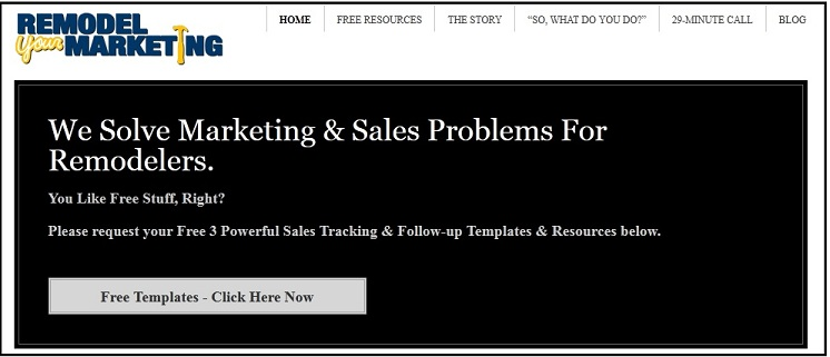 Marketing and Sales Problems Web Screen Shot