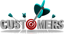 You need to hit the bullseye when you target customers - The word Customers with a target in place of the letter O and an arrow making a direct hit
