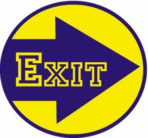 Exit Sign -- Are too many of your visitors heading for the exit prematurely?
