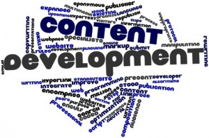 word cloud for content development