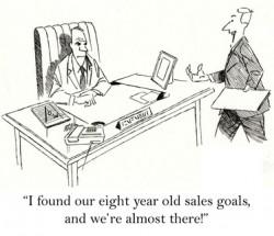 Old sales goal